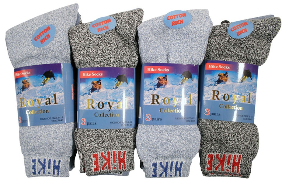 12 Pairs Mens Thermal Winter Warm Thick Hike Socks