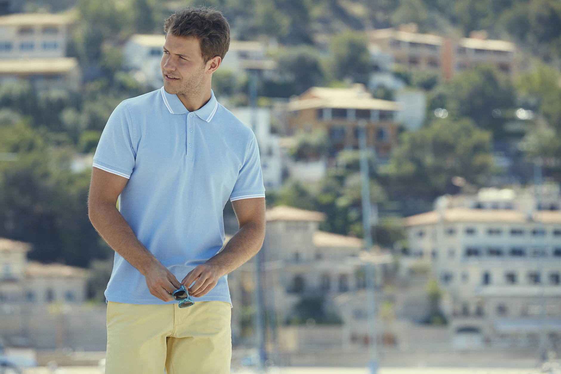 Fruit of the Loom Twin Stripe Tipped Polo