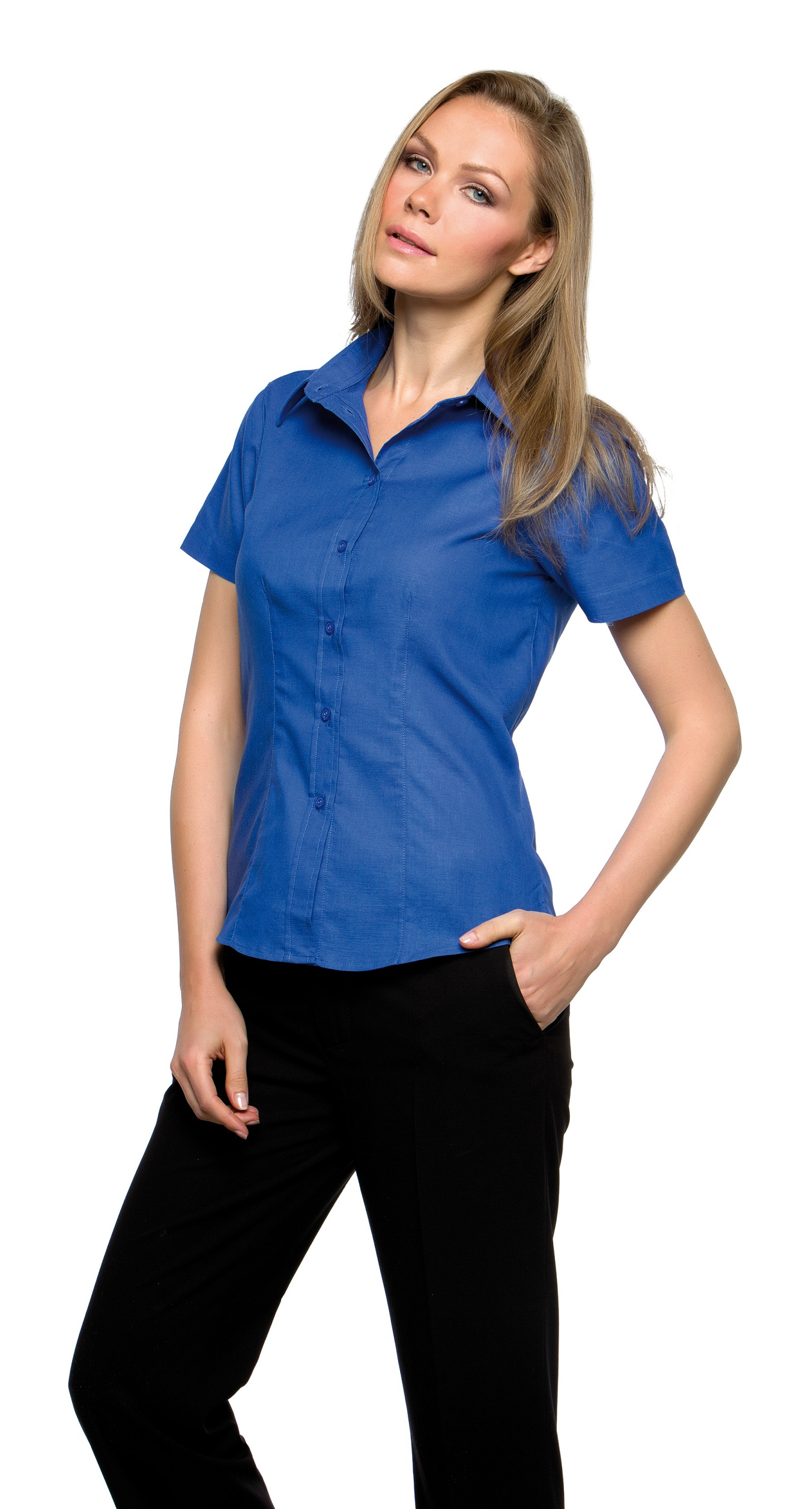 KK360 Kustom Kit Workwear Womens Oxford Shirt Short Sleeve