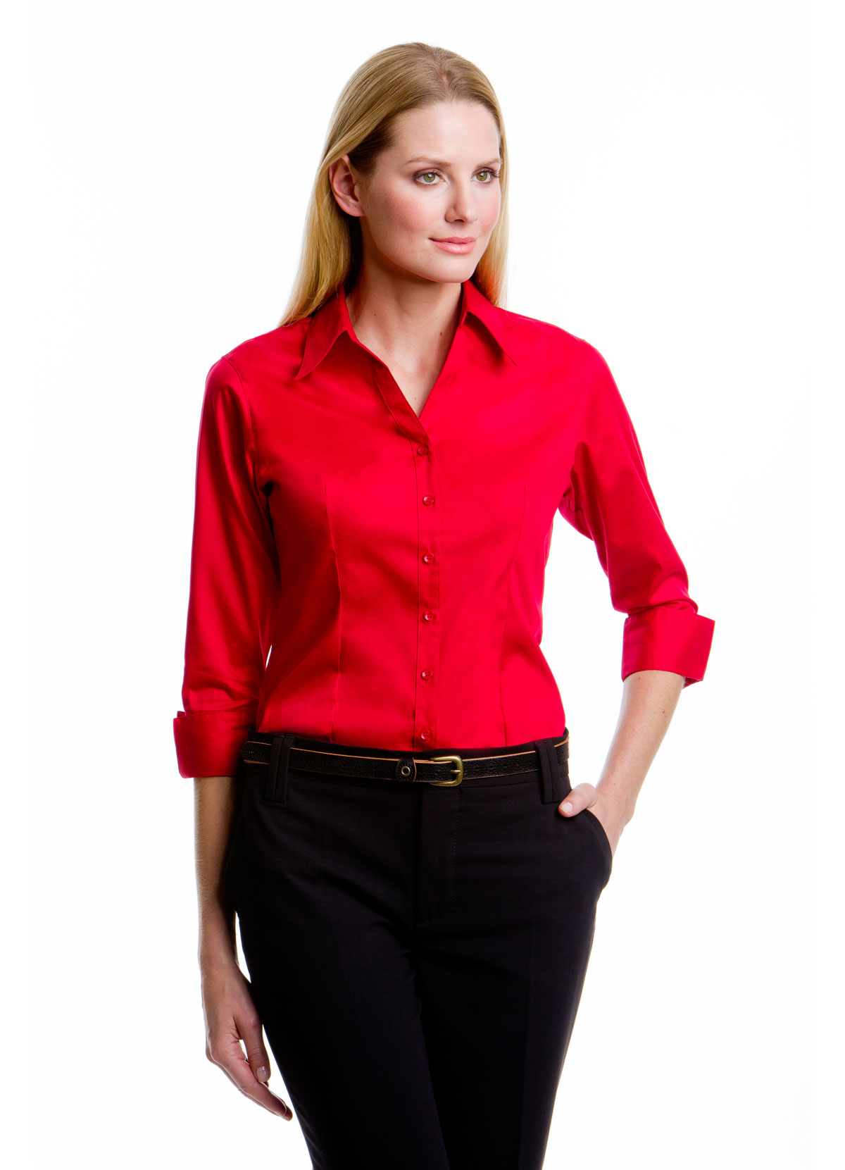 KK710 Women's Corporate Oxford Shirt 3/4 Sleeve