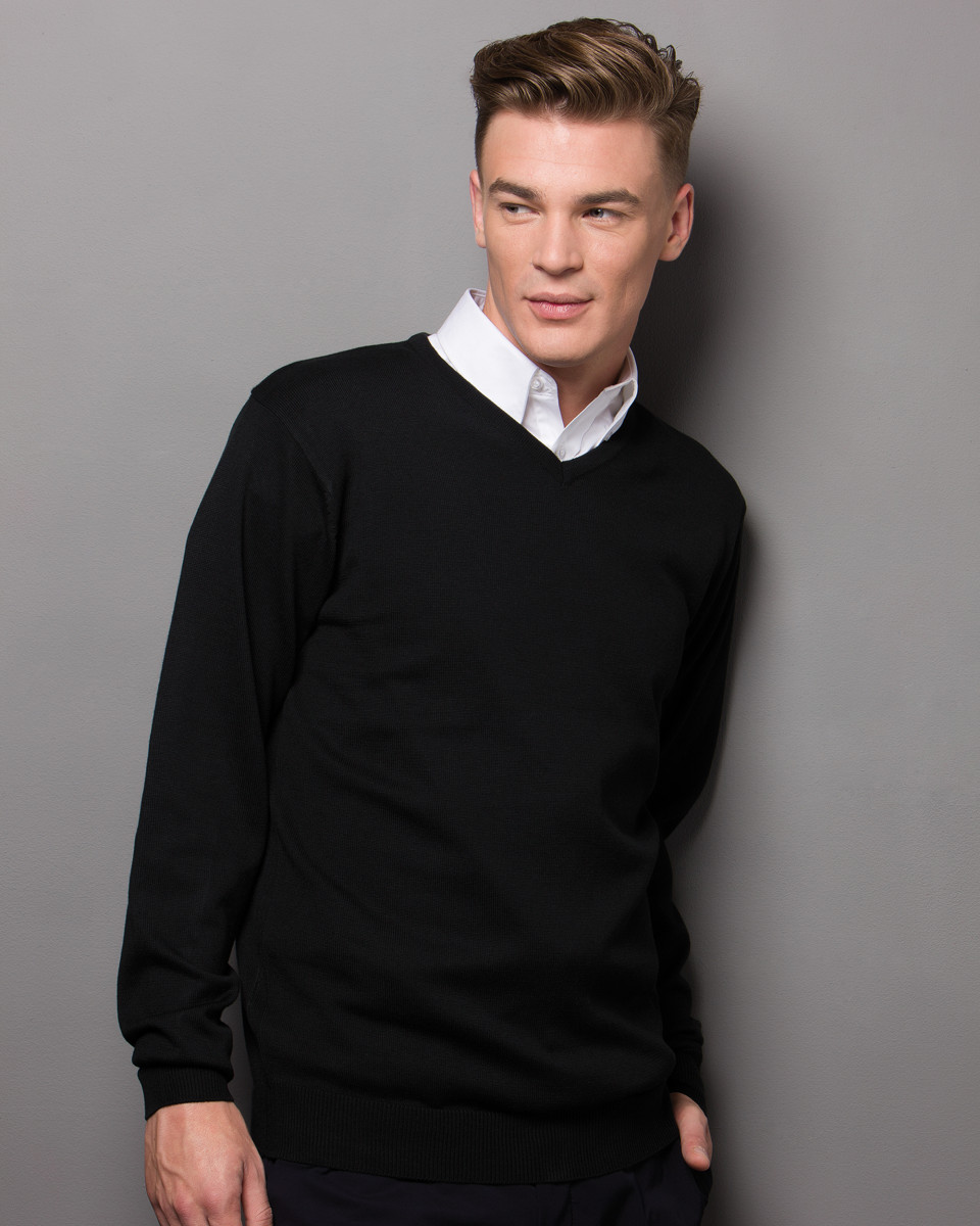 Mens Arundel V Neck Sweater Long Sleeve
