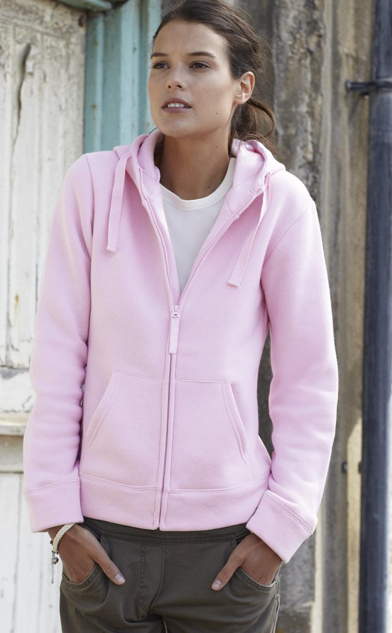 Fruit of the Loom Ladyfit Zip Hooded Sweat Jacket