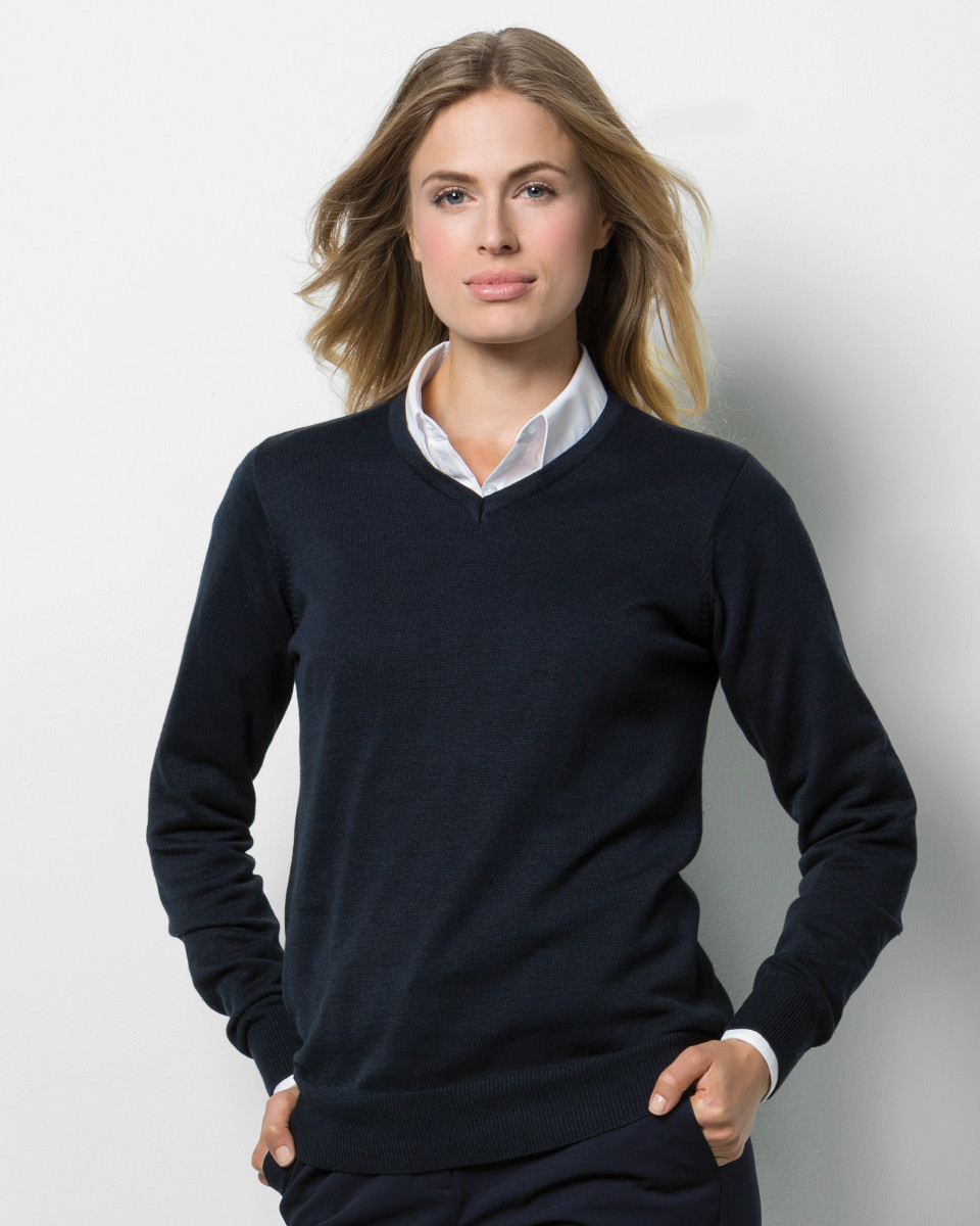 Ladies Arundel V Neck Sweater Long Sleeve