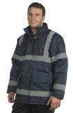 Black Hi Vis 3/4 Length Security Jacket