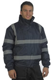 Black Hi Vis Security Bomber Jacket