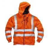 Hi Vis Zip Thru Hooded Sweatshirts