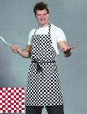 Professional Chef Check Apron with Pocket