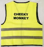 Cheeky Monkey Hi Vis Vests