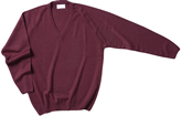 CKL V-Neck Wool-Mix Jumper